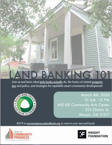 Upcoming Event:  Land Banking 101