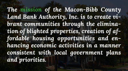 Macon Land Bank Mission Statement